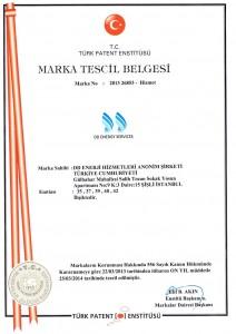 DD ENERGY SERVICES - Marka Tescil Belgesi -  Brand Registration Certificate
